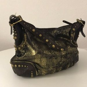 Just Cavalli large hobo with gold details